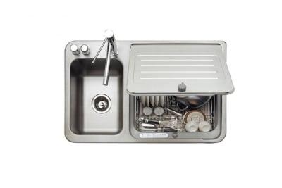 Mesin pencuci piring dalam wastafel - perabot dapur