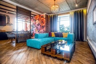 Dekorasi Ruang Tamu Loft Apartemen