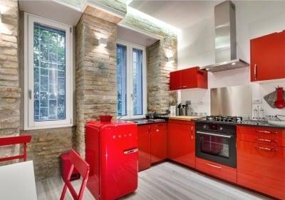 Model Kitchen Set dengan Warna yang Menarik