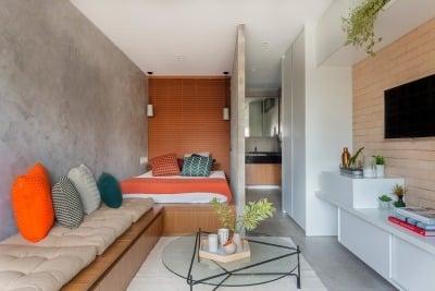 furniterus   dekorasi apartemen studio agar sesuai tipe