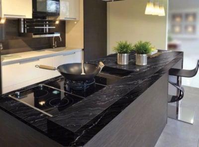 Top Table Kitchen Set Batu Granit yang Kuat