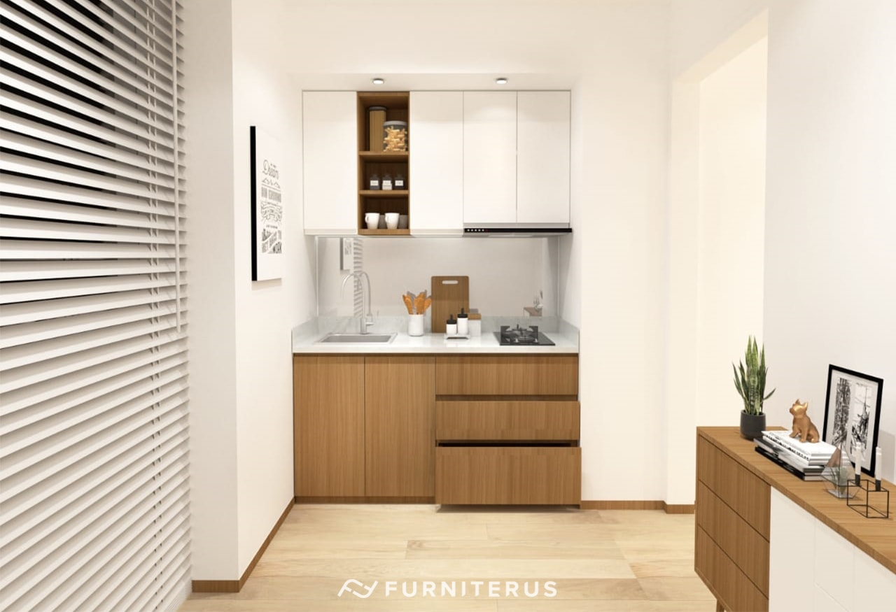 Kitchen Set Minimalis Woodgrain Madison