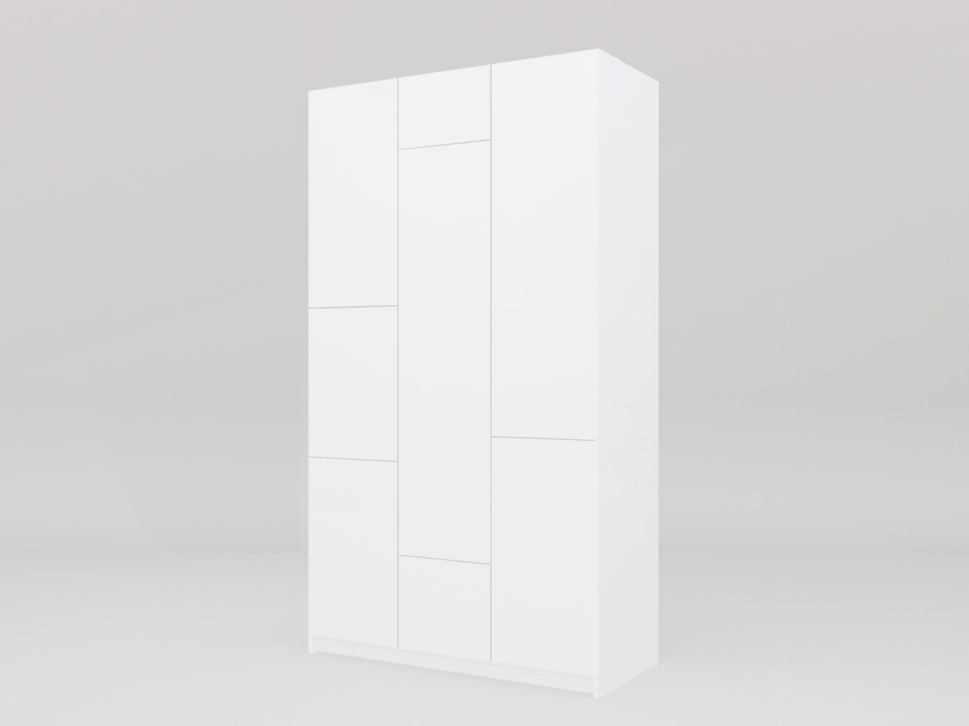 Lemari Pakaian Minimalis All White Bauhaus