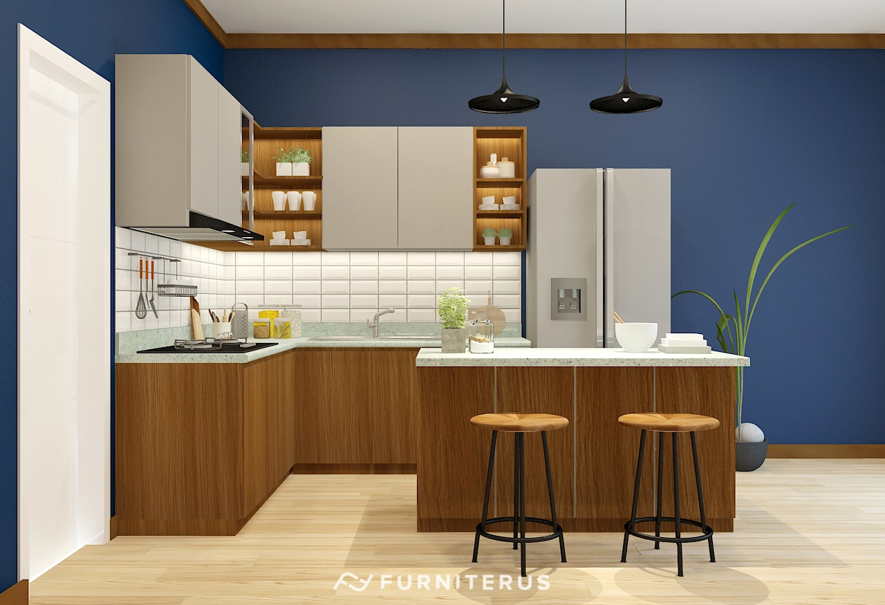 Kitchen Set Minimalis Woodgraind And Solid