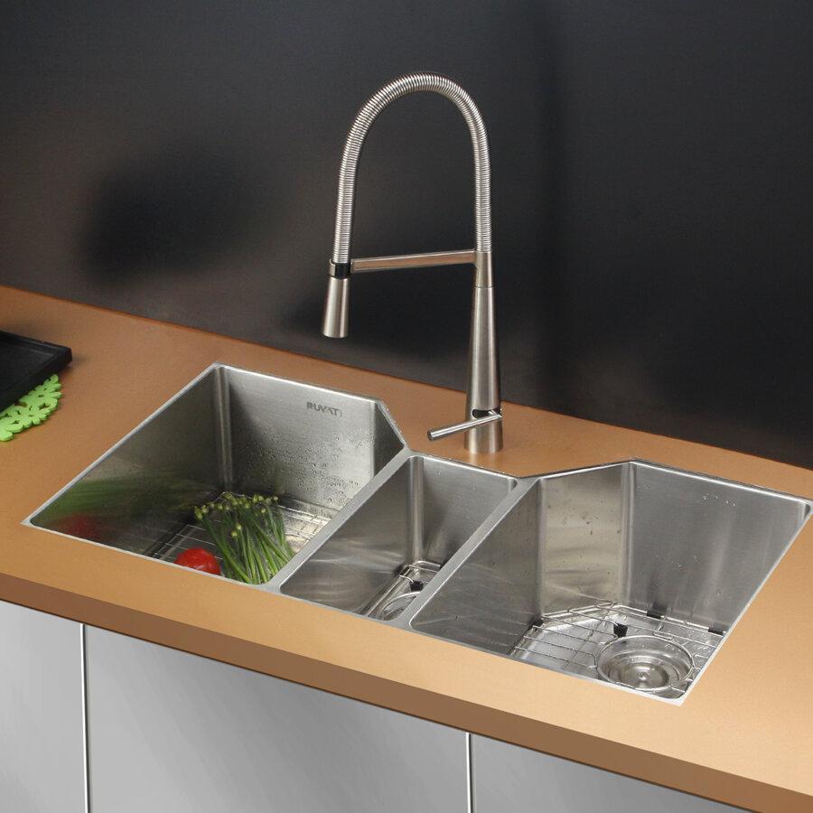 Kitchen Sink Triple Bowl
