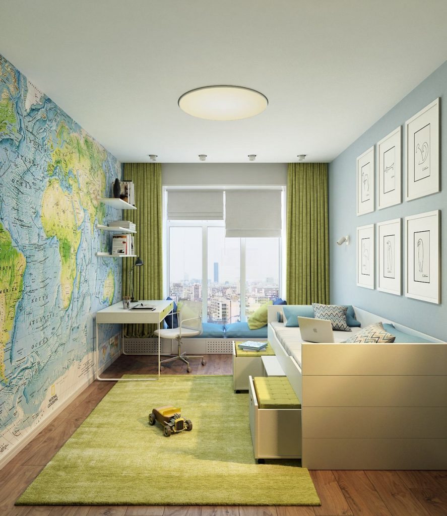 Keliling Dunia Bersama Wallpaper Kamar Anak