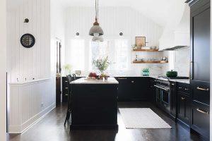 kitchen set hitam putih