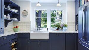 kitchen set biru dongker