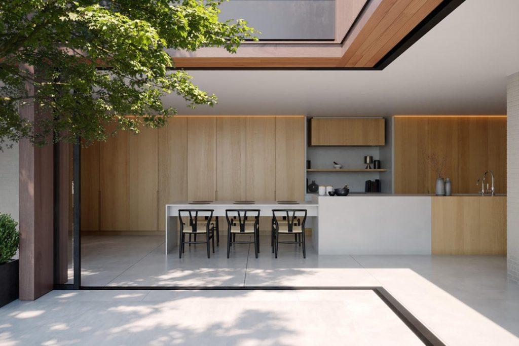 Desain dapur minimalis modern terbuka