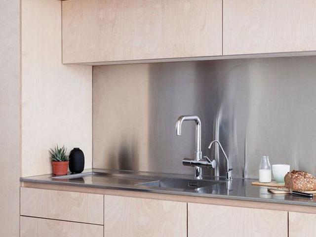Meja kitchen set stainless steel