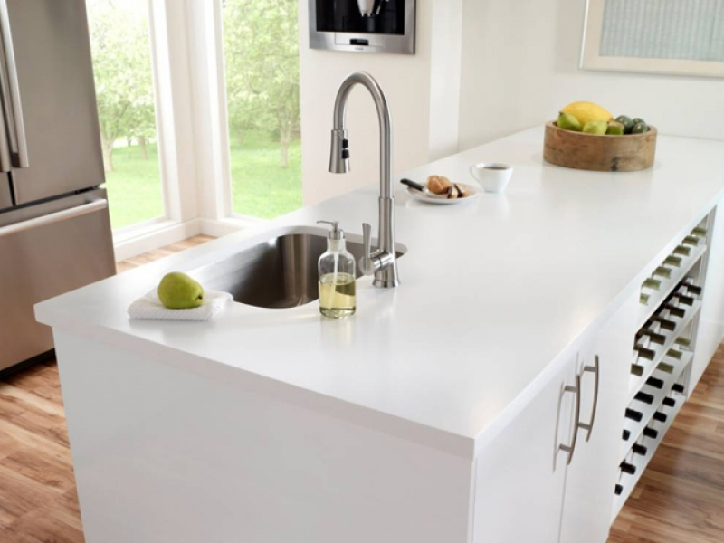 Meja kitchen set Solid Surface