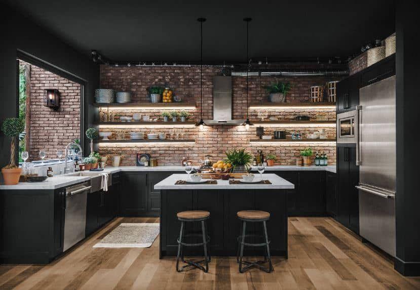 kitchen set mini bar dapur kecil industrial elegan